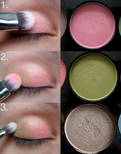 Make-up Monday | Sleek Del Mar Pink and Green Eye Spring Look - Dees Beautiful Life...