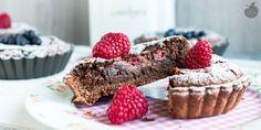 Crostatine al cioccolato e lamponi - Ricetta Vegan