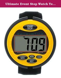 Ultimate Event Stop Watch Yellow From Optimum Time. Optimum Time Ultimate Event Stop Watch, ?Oe385, Suitable For Eventing, Carriage Driving Trials & Pony Club Events, ?The Ultimate Event Watch Is An Easy To Use Eventing Or Cross Country Watch With A Large Clear Lcd Display Screen, With Bold Digits. The Ultimate Event Watch Has A Compact And Comfortable Design, Featuring A Count Up And Down Mode Plus Alarm. This Cross Country Stop Watch Is Very Popular With Professional And Amateur Riders...
