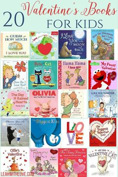 Valentine's Day and I Love You Books for kids.