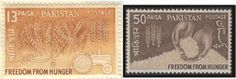 Postage stamps of Pakistan issued in 1963