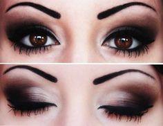 Sombras de ojos para ojos marrones oscuros: fotos maquillaje (2/40) | Ellahoy