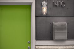 How to otherwise describe a properly aligned feng shui space if not thusly? A whole Idea Book on Houzz of Feng Shui Basics. Feng Shui Basics, Feng Shui, Modern Front Door, House Exterior, Exterior Design, Green Front Doors, Front Door Design, Doors, House Colors