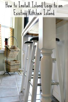 Sweet Parrish Place: How We Added Legs To Our Kitchen Island