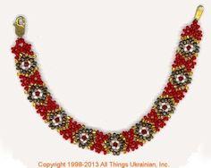 Ukrainian Gherdany Beadwork  # GBR13-017 handmade in Ukraine. Originally sold on http://www.allthingsukrainian.com/Jewelry/index.htm