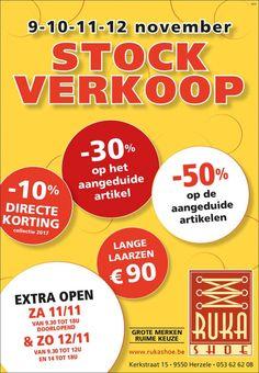 Stockverkoop Ruka Shoe -- Herzele -- 09/11-12/11