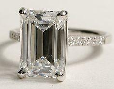 Love emerald cut rings.