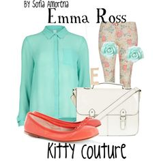 """Emma Ross from """"Jessie"""". Give all of the credit to Sofia Amorena!! She is so talented with fashion and she loves polyvore to create all of her amazing outfits! Great job sissy!! Love Lucia Isabella"""