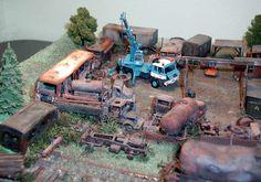 Tatra 815 Crane & Scrapyard Diorama