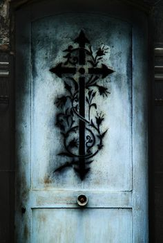 Old cemetry door in Paris