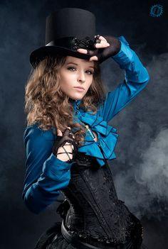 Steampunk Fashion - Nearly Lilith blue
