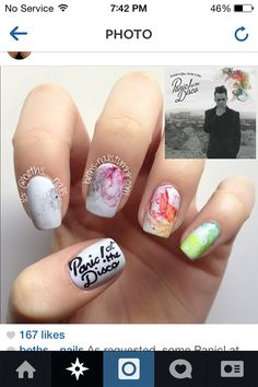 Panic! At the disco nails:) need to figure out how to do this.