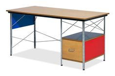 Eames® Right Hand File Drawer Desk Unit in Multi Color by Herman Miller