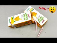Best craft idea ideas to juice packet HOME DECO mango juice packet paper crafts arts and crafts out o. Hacks Videos, Diy Videos, Diy Arts And Crafts, Reuse, Life Hacks, Juice, Recycling, Youtube, Photos