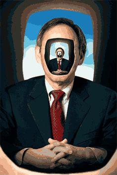Milos Rajkovic a.k.a Sholim el genio que crea los gifs mas surrealistas que he visto hasta ahora, hechos con cabezas inutilizables e imágenes de autoridades gringas como generales o miembros del clero, logra burlarse de una manera autentica, llenándolos de pequeñas personas, partes de relojes, objetos animados y articulaciones desmembradas que hacen un conjunto único y atrapante. Sholim tiene también videos, que sería lo mismo …