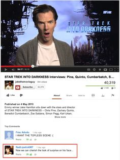 OMG THE COMMENT. XD Sherlockians are trolling the entire internet! XD