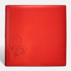 Álbum de fotos en piel de Ubrique. Cuero rojo. PielFort.