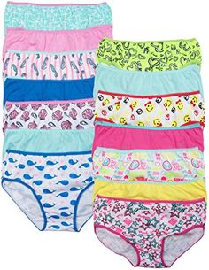 52742cb69c9 Caramel Cantina Big Girls Cotton Bikini Panty 14 Pack * Click on the image  for additional