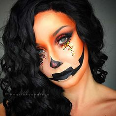 Are you looking for inspiration for your Halloween make-up? Browse around this site for cute Halloween makeup looks. Halloween Pumpkin Makeup, Cute Halloween Makeup, Halloween Makeup Looks, Up Halloween, Halloween Pumpkins, Pretty Halloween Costumes, Halloween Tutorial, Pumpkin Face Paint, Makeup Ideas
