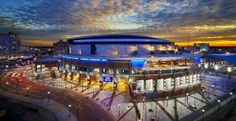 Time Warner Cable Arena, the new home for the Charlotte Hornets, known as The Hive