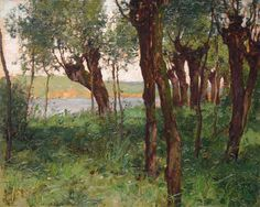 Walter Launt Palmer (1854-1932). Afternoon Light, 1885. Oil on canvas mounted to board, 10.5 x 13.25 in.