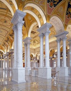 Great Hall of the Library of Congress Thomas Jefferson Building, Washington, D.C.