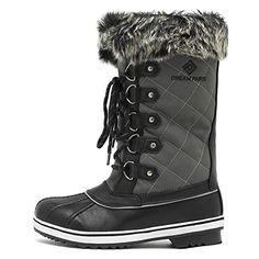 Price: (as of - Details) DREAM PAIRS Women's Mid-Calf Winter Snow Boots man-made material Synthetic sole Shaft measures approximately from arch Boot openin Mens Snow Boots, Winter Snow Boots, Cold Weather Boots, Workwear, Casual Shoes, Calves, Pairs, Heels, Fashion