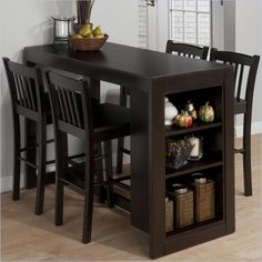 Great choice for small living spaces / Jofran 5 Piece Counter Height Storage Dinette in Maryland Merlot
