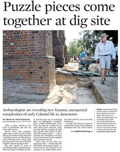 Historic Jamestowne in the News Study History, Family History, Stephen Hopkins, Historic Jamestowne, Jamestown Colony, Plymouth Colony, Roanoke Island, Picture Places, Old Dominion