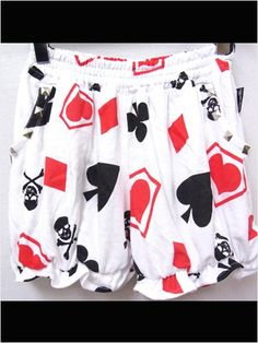 NEW Playing Card Pattern Drawers available at http://www.cdjapan.co.jp/apparel/new_arrival.html?brand=SLV