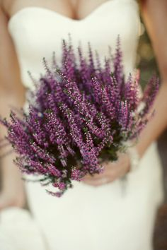 Heather used in ancient celtic wedding ceremonys to symbolize love and devotion, ivy for fidelity and bells of Ireland for luck.