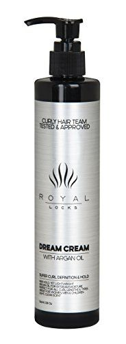 Dream Cream Ultra Curl Cream by Royal Locks Curly Hair Product with Moroccan Argan Oil for Conditioning Anti Frizz Super Hold Defining and Styling Ingredients for All Curl Types ** Read more reviews of the product by visiting the link on the image.