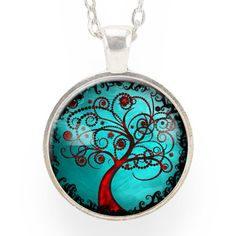 Tree Of Life Necklace, Blue & Red – CellsDividing