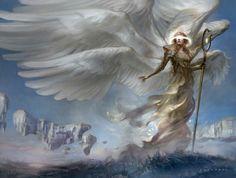 Battle for Zendikar MtG Art. The cards and artwork of Battle for Zendikar, a Magic the Gathering Set. Fantasy Art Angels, Fantasy Artwork, Magic The Gathering, Fantasy Character Design, Character Art, Guerrero Dragon, Seraph Angel, Angel Artwork, Mtg Art