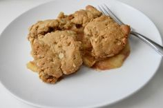 Peanut Butter Cookie Apple Cobbler