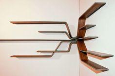 wooden wall corner shelves - Google Search