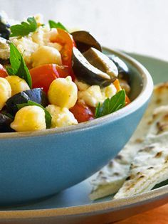 Cookbook author Diane Morgan's bright-tasting chickpea salad with olives, tomatoes, and Feta cheese offers a twist on a traditional Lebanese vegetable dish. The salad can be served right away, but is at its best when the chickpeas are allowed to absorb some of the tangy lemon dressing.