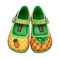 Hot Chocolate Design Mini Chocolaticas Pineapple Girls Mary Jane Flat  Cushioned inner sole for maximum comfortVibrant colors and quality printsRenowned for its unique design shoes  http://dailydealfeeds.com/shop/hot-chocolate-design-mini-chocolaticas-pineapple-girls-mary-jane-flat/