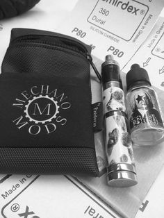 Black Silok pouch V1.5 Mechano mods logo