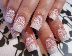 lace nail art 13 - 50+ Intricate Lace Nail Art Designs