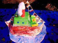 Pakjesboot - geschilderd door Brian 2006