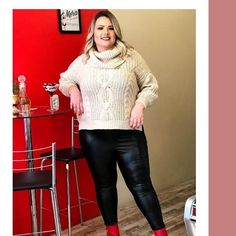 Leather Pants, Turtle Neck, Plus Size, Sexy, Sweaters, Fashion, Leather Jogger Pants, Moda, Sweater