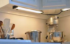 5 Easy Ways to Light Up a Rental Kitchen | The Kitchn - read the comments LED lights under cabinet.