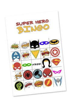 This Free Printable Superhero Bingo Game Is Perfect For Birthday Parties