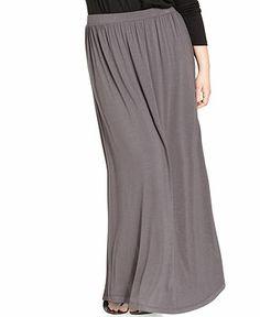 ING Plus Size Maxi Skirt