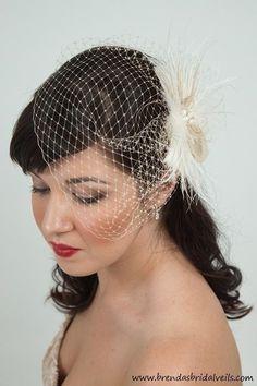 birdcage veil- $88.99 etsy.com