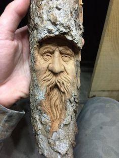 Esprit bois sculpture sur bois cadeau bois parfait par JoshCarteArt