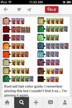 Kool-Aid hair dye: 3 packets of Kool-Aid dissolved in a coffee cup ...