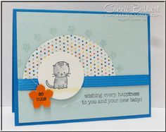 Made with Love, baby, kitten, Stampin' Up!, #stampinup, created by Connie Babbert, www.inkspiredtreasures.com