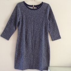 """NWTGAP Heather Navy Blue French Terry Dress Size: XS , S , M , L Super comfy and versatile dress in a heather navy blue color. Scoop neck. 3/4 sleeve. Back zipper. Reversed 100% Cotton French terry. Available in (XS - 33"""" Bust 18"""" Sleeve 34"""" Length) (S - 35"""" Bust 18"""" Sleeve 35"""" Length) (M - 40"""" Bust 20"""" Sleeve 38"""" Length) (L- 42"""" Bust 20"""" Sleeve 38"""" Length) GAP Dresses"""